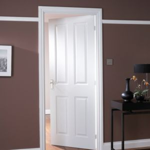 View 4 Panel Primed Smooth Internal Unglazed Door, (H)1981mm (W)610mm details