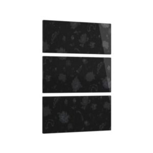 View Cooke & Lewis Designer Black Floral 3 Drawer Bedside Front Pack details