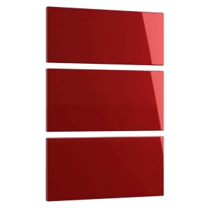 View Cooke & Lewis Designer Burgundy Gloss 3 Drawer Bedside Front Pack details