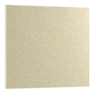 View Cooke & Lewis Designer Cream & White Bridging Cabinet Door (H)440 mm (W)446 mm details