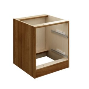 View Cooke & Lewis Walnut Effect 2 Drawer Bedside Cabinet Carcass details