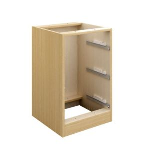 View Cooke & Lewis Oak Effect 3 Drawer Bedside Cabinet details