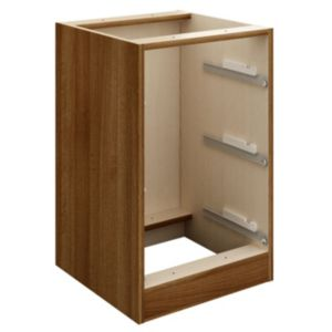 View Cooke & Lewis Walnut Effect 3 Drawer Bedside Cabinet details