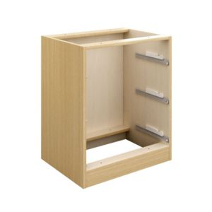 View Cooke & Lewis Oak Effect 3 Drawer Bedside Cabinet Carcass details