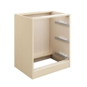 View Cooke & Lewis Maple Effect 3 Drawer Bedside Cabinet Carcass details