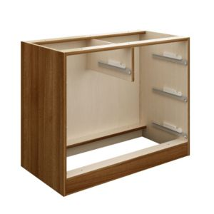 View Cooke & Lewis Walnut Effect 2 over 2 Drawer Cabinet Carcass details
