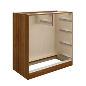 View Cooke & Lewis Walnut Effect 2 over 3 Drawer Cabinet details