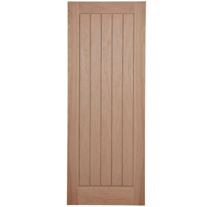 View Cottage Panelled Oak Veneer Internal Unglazed Door, (H)1981mm (W)762mm details