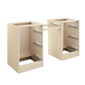 View Cooke & Lewis Maple Effect 3 Drawer Double Dressing Table Unit Carcass details