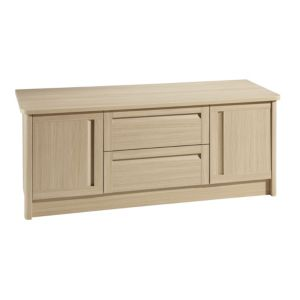 View B&Q Oak Effect 2 Drawer & 2 Door Chest (W)1.374m details