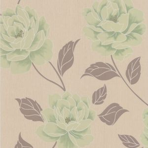 View Ella Floral Spring Green Wallpaper details
