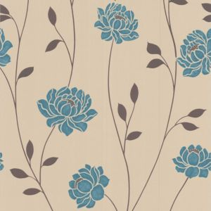 View Colours Paste The Wall Sienna Teal Wallpaper details