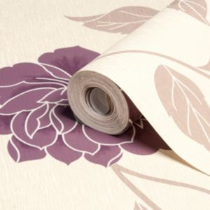 View Ella Floral Plum Wallpaper details