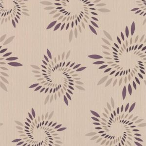 View Colours Paste The Wall Spiral Plum Wallpaper details