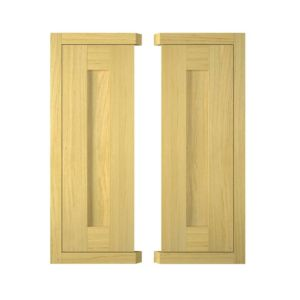 View IT Kitchens Framed Oak Style Corner Wall Door (W)625mm, Set of 2 details