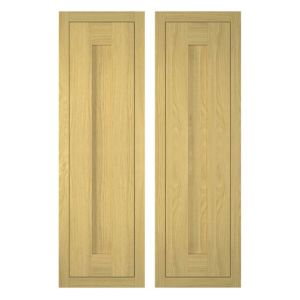 View IT Kitchens Framed Oak Style 300mm Larder Door, Pack  V, Set of 2 details