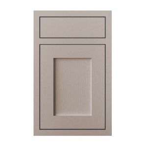 View Cooke & Lewis Carisbrooke Taupe Framed Drawerline Door & Drawer Front (W)450mm, Set of 2 details