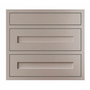 View Cooke & Lewis Carisbrooke Taupe Framed 800mm Pan Drawer Front, PACK T, Set of 3 details