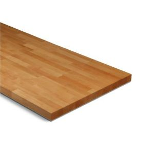 View 27mm B&Q Beech Solid Wood Square Edge Kitchen Worktop details