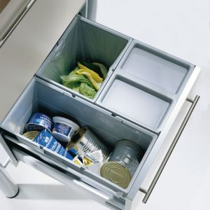 View B&Q Plastic Kitchen Drawer Waste Bin Set details