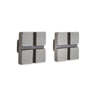 View Pewter Effect Square Knob, Pack of 2 details