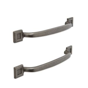 Image of IT Kitchens Pewter Effect D-Shaped Cabinet Handle Pack of 2