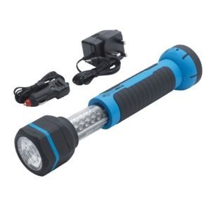 View B&Q Rubber LED Rechargeable Work Light & Torch details