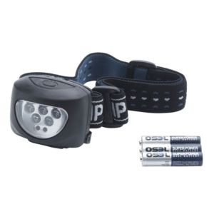 View B&Q Plastic LED Head Torch details