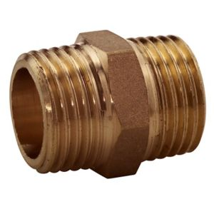 View Plumbsure Brass Male Hex Nipple (Dia)12.7mm details