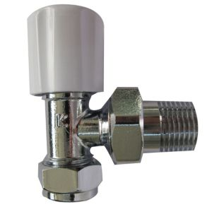 View Plumbsure White & Chrome Effect Angled Radiator Valve details