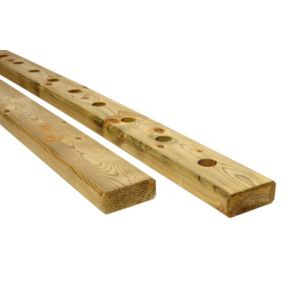 View Modern Green Softwood Handrail & Baserail Pack, (L)1130mm details