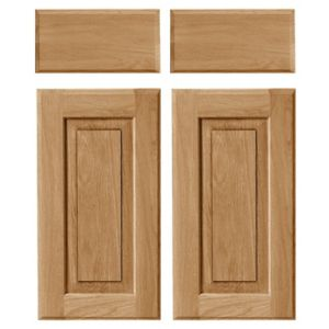 Cooke & Lewis Chesterton Solid Oak Corner Base Drawerline Door (W)925mm  Set of 2