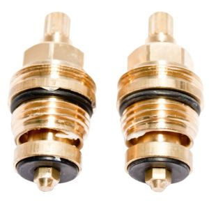 View Plumbsure Brass Tap Gland with 8mm Spline & Threaded Collar,1/2