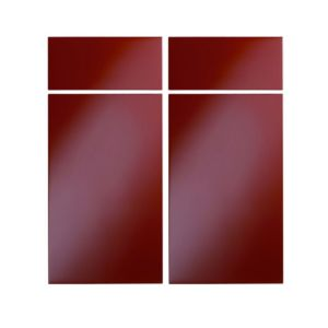View Cooke & Lewis High Gloss Red 925mm Base Corner Drawerline Door, Pack  Eedl, Set of 2 details