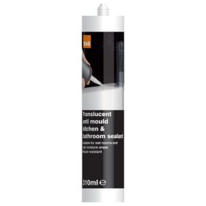 View B&Q Translucent Silicone Antimould Kitchen & Bathroom Sealant 310ml details