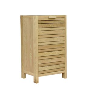 View Cooke & Lewis Savena Oak Effect Laundry Bin details