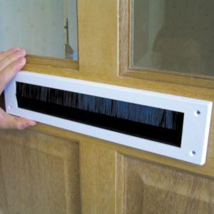 B&Q PVC Brush Letterbox Draught Excluder  (L)279mm
