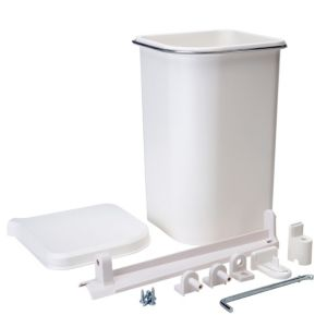 View Cooke & Lewis White Plastic Kitchen Waste Pedal Bin 5L details