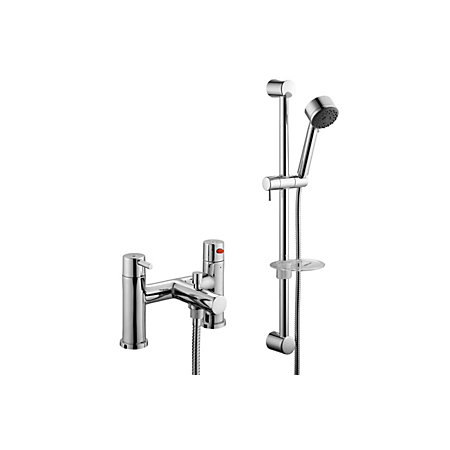 B&Q Cirque Chrome Bath shower mixer tap | Departments ...