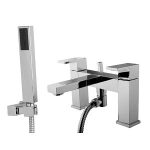 View Cooke & Lewis Salzburg Chrome Bath Shower Mixer Tap details