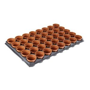 View B&Q Black Plastic 40 Pot & Tray, Set details