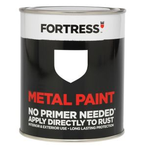 View Fortress White Gloss Metal Paint 750ml details