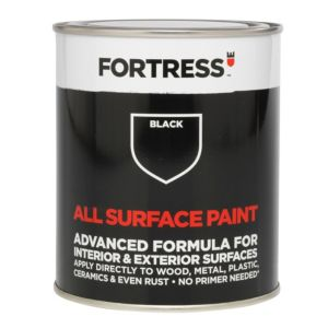 View Fortress Interior & Exterior Black Satin Multi-Purpose Paint 250ml details