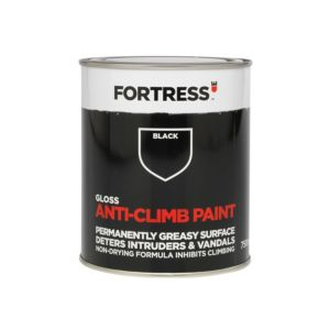 Image of Fortress Black Gloss Anti-Climb Paint 750 ml