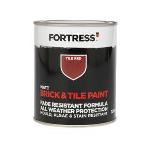 Fortress Tile Red Matt Brick & Tile Paint 750 ml