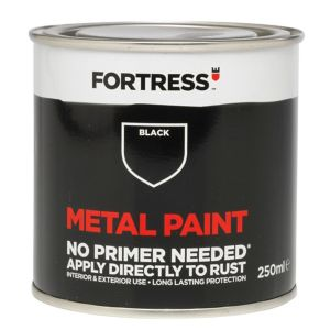 View Fortress Black Gloss Metal Paint 250ml details