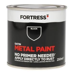 View Fortress Black Satin Metal Paint 250ml details