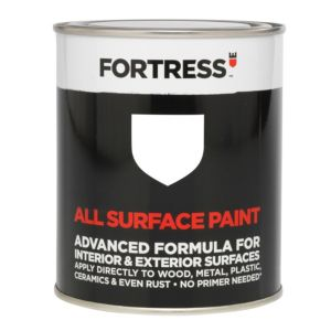 View Fortress Interior & Exterior White Gloss Multi-Purpose Paint 250ml details