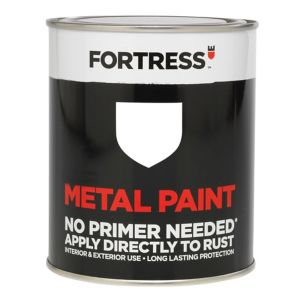 View Fortress White Gloss Metal Paint 250ml details