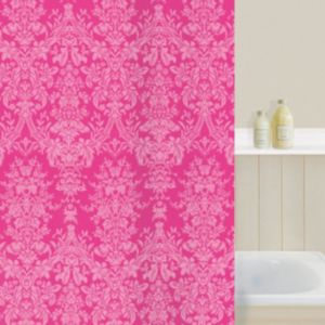 View Cooke & Lewis Pink Damask Shower Curtain details